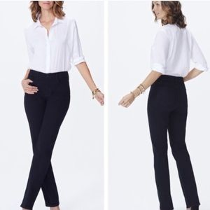 Nydj Marilyn straight leg jeans 14 shorts comfort